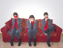 See no evil, hear no evil, speak no evil. Stock Photography