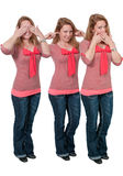 See no evil hear no evil speak no evil no evil Royalty Free Stock Image