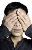 See no evil portrait Stock Photography