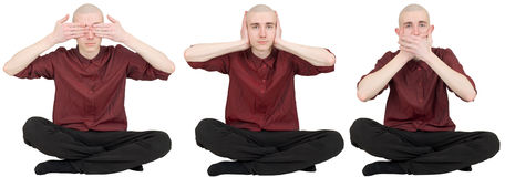 See no evil, say no evil, hear no evil Royalty Free Stock Images