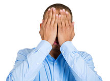 See no evil or shy man Royalty Free Stock Images