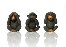 See No Evil. Speak No Evil, Hear No Evil. Monkeys Royalty Free Stock Photography