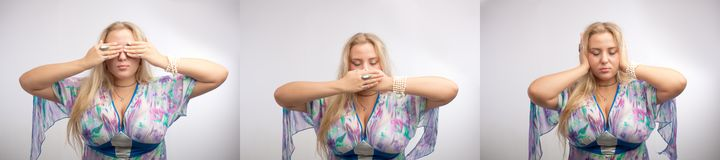 See no evil, speak no evil, hear no evil Royalty Free Stock Images