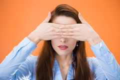 See no evil woman Stock Photography