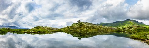 Lake in Norway with reflection royalty free stock photography