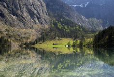 See Obersee nahe Berchtesgaden Stockfotografie