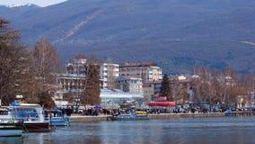 See Ohrid, Makedonien Stockfotos