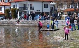 See Ohrid, Makedonien Lizenzfreies Stockbild
