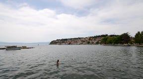 See Ohrid, Makedonien Lizenzfreie Stockfotografie