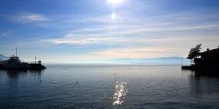 See Ohrid, Makedonien Lizenzfreies Stockfoto