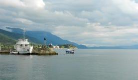 See Ohrid Mazedonien Lizenzfreies Stockbild
