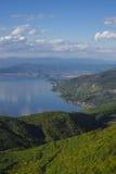 See Ohrid, wiew von Galicica-Berg Lizenzfreie Stockfotos