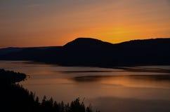 See Okanagan-Sonnenaufgang Lizenzfreies Stockbild
