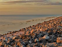 See Okeechobee-Sonnenuntergang am Hafen Mayaca-Verschluss stockfotografie