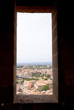 See-through over carcasonne Royalty Free Stock Photography