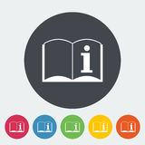See owner`s manual. Single flat icon on the circle. Vector illustration vector illustration