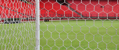 See partially of the soccer stadium Stock Photography