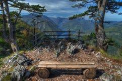 See Perucac-Ansicht oben vom Standpunkt Banjska Stena, Berg Tara, West-Serbien Lizenzfreie Stockfotografie