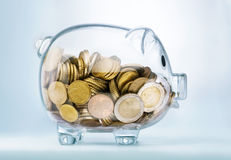 A see through piggy bank Stock Photography