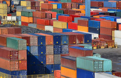 See port container yard. Colorful background Royalty Free Stock Images