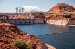 See Powell bei Glen Canyon Dam Lizenzfreies Stockfoto