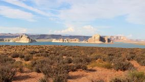 See Powell Reservoir Between Utah und Arizona stock video