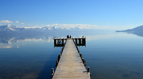 See Prespa, Mazedonien Stockfoto