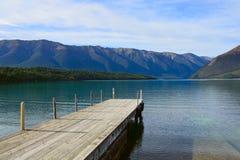 See Rotoiti, Nelson Lakes National Park, Tasman, Neuseeland stockfoto