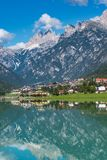 See Santa Caterina oder Auronzo See in der Provinz von Belluno, Italien lizenzfreie stockfotografie