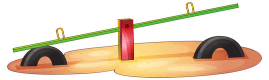 See saw. Illustration of an isolated see saw Royalty Free Stock Photos