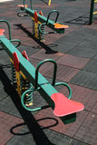 See-saw at children`s playground - Series 2 Royalty Free Stock Photo