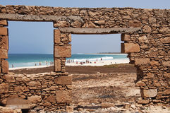 See the sea from the windows Stock Image