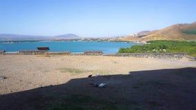 See Sevan-Landschaft stock footage