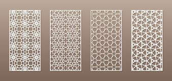 See-through silhouette with Arabic pattern, Muslim girih geometric pattern. Drawing suitable for background, invitation royalty free illustration