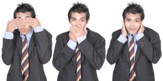 See, speak, hear no evil Stock Images