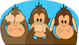 See,Speak,Hear No Evil. Three monkeys - see,speak,hear no evil Stock Images