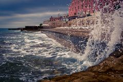 See Splash storm royalty free stock images