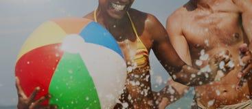 See-Sunny Vacation Leisure Holiday Friends-Konzept stockfotos