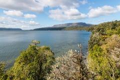 See Tarawera nahe Rotorua, Neuseeland lizenzfreie stockfotos