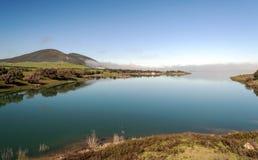 See umgeben durch Grün Stockbilder