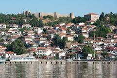 See und altes Ohrid, Republic Of Macedonia stockbilder
