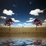 See und Bäume
