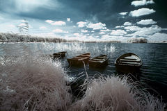 See und Boot stockfotografie