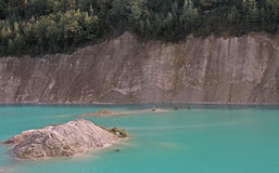 See- und Klippenlandschaft stockfoto
