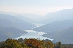 See und moutain, Landschaft Stockfotos