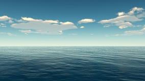 See- und Wolkenhimmel Stockfoto
