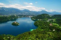 See verlief in Slowenien Lizenzfreie Stockbilder
