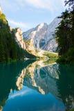 See von Braies auf den Dolomit, Italien Lizenzfreie Stockfotos