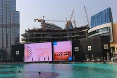 See von Dubai-Brunnen Stockbilder
