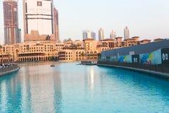 See von Dubai-Brunnen Stockfotografie